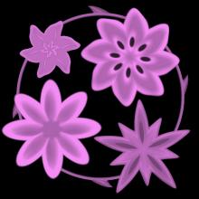Springtime Flowers   Pink