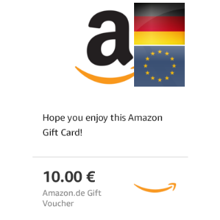 10€ (2€ x 5 e-codes) Gift Card Amazon Germany ***15% OFF***