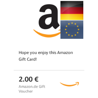2€ Gift Card Amazon Germany ***15% OFF***