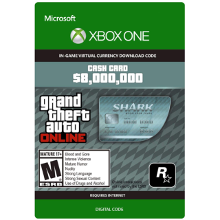 GTA 5 (GTA Online): Megalodon Shark Cash Card 8,000,000$ XBOX ONE KEY GLOBAL