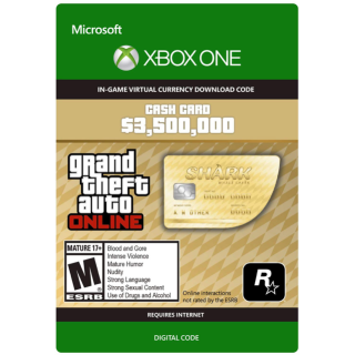 GTA 5 (GTA Online): The Whale Shark Cash Card - 3,500,000$ XBOX ONE CD-KEY GLOBAL