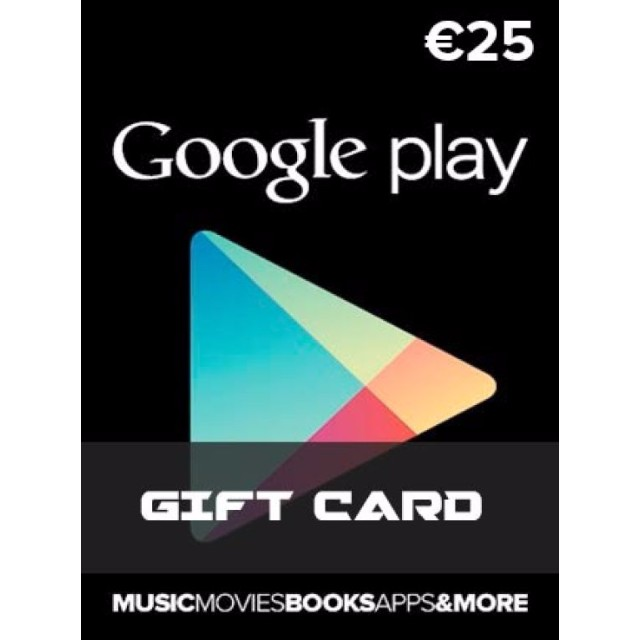 Google Play Card 25 Europe Region Google Play Gift Cards Gameflip