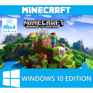 Minecraft windows 10 edition key X5 for softwaregames