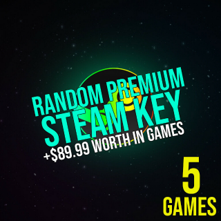 5x Random Premium Steam Key / PC Game / Guaranteed $89.99*