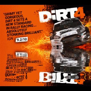DiRT 4 (STEAM KEY/REGION FREE)