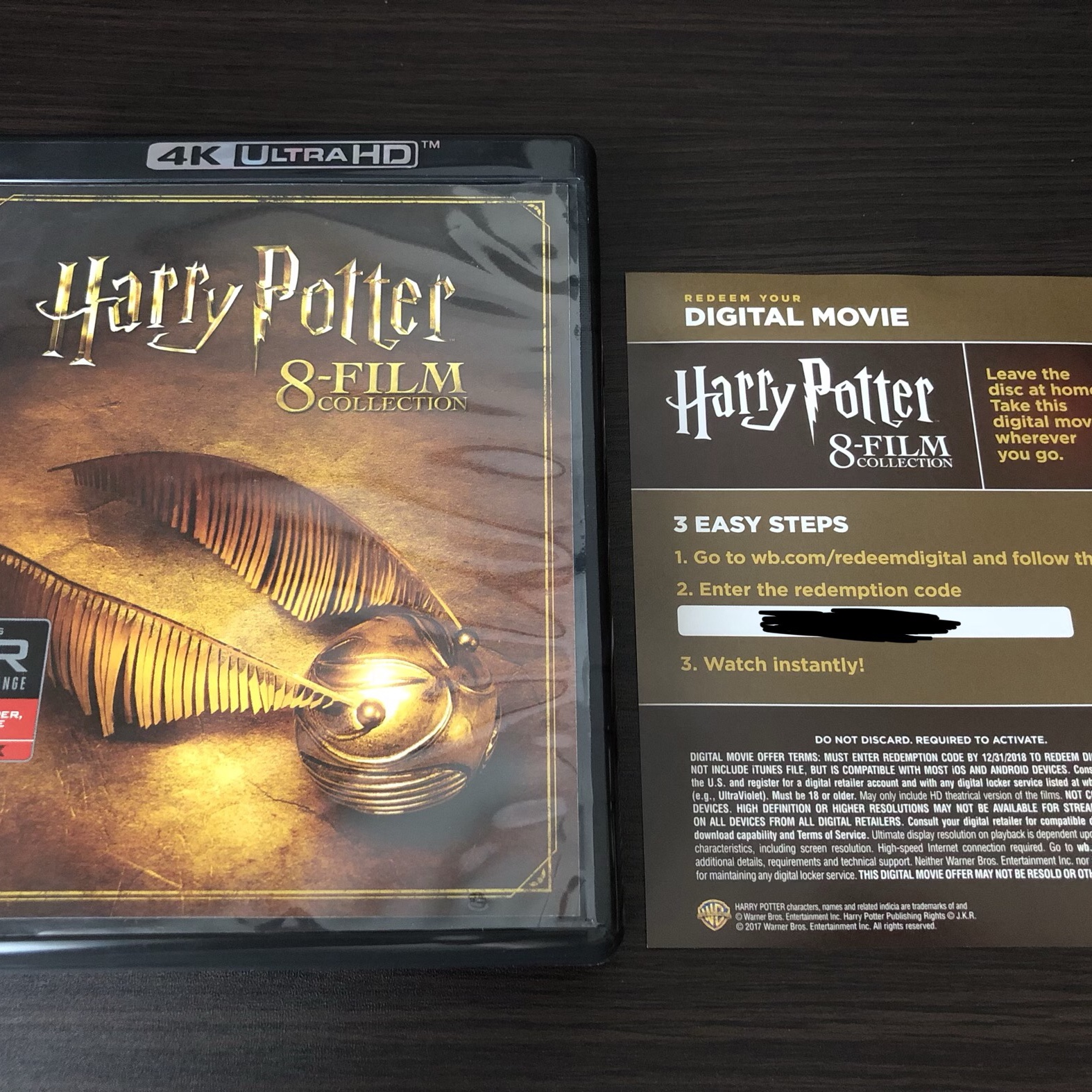 Harry Potter 8-Film Collection 4K Digital Code - Digital Movies