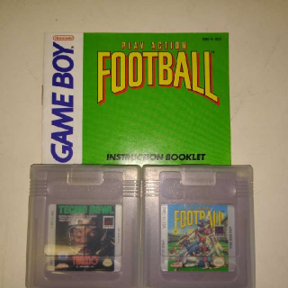 Nintendo Gameboy Tecmo Bowl And Play Action Football Games