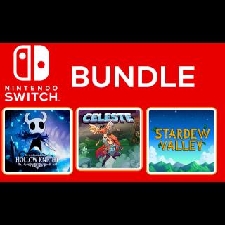 Nintendo Switch Indie Bundle: Hollow Knight, Celeste, Stardew Valley