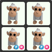 Bundle   4 Albino Monkey
