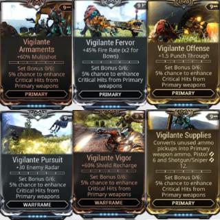 (PC) Vigilante mod set (armaments, fervor, supplies, offensive, pursuit, vigor) // Instant delivery