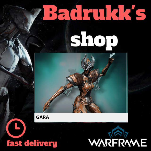 (PC) Gara warframe + slot + reactor // Fast delivery!