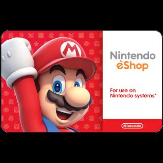 $50.00 Nintendo eShop 10$x5 INSTANT DELIVERY