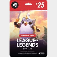 League of Legends $25 Gift Card - NA Server Only