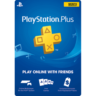 PlayStation Plus: 1 Month Membership INSTANT DELIVERY