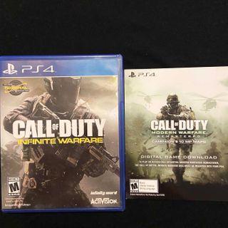 PS4 Call of Duty Modern Warfare Remastered / Infinite Warfare Playstation 4 PS4