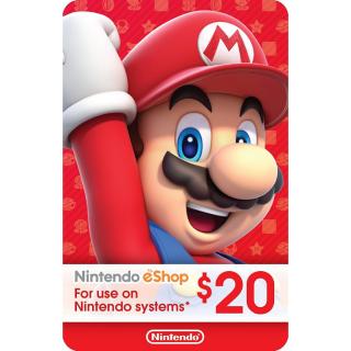 $20.00 Nintendo - Canada