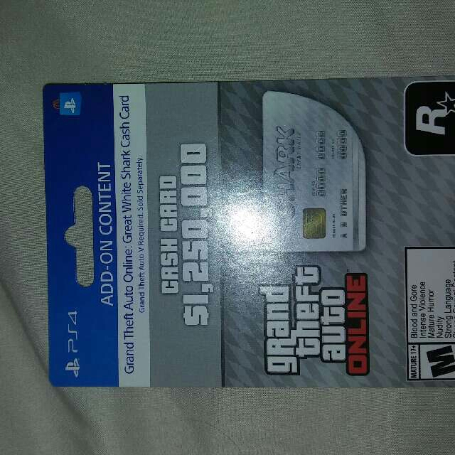 great white shark card ps4 cheap