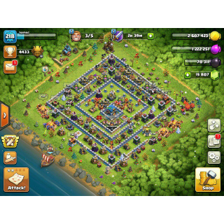 I will Clash Of Clans Base grinding