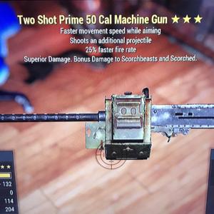 Weapon | Lvl 45 Two Shot Prime .50 Cal Machine Gun with FFR ***