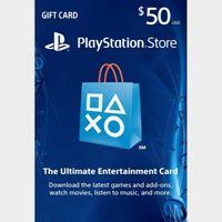 PSN $50 Digital Code (Instant Release) US Region