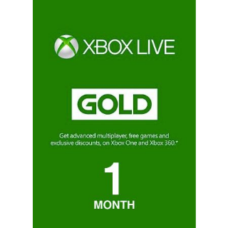 XBOX LIVE GOLD 1-MONTH GLOBAL (10x)