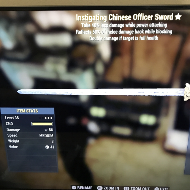 Weapon | 3star instigating Chinese officer sword