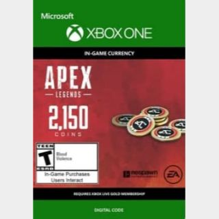 APEX Legends: 2150 Coins - Xbox One Instant Delivery!!!
