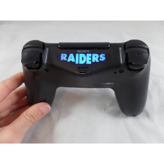 Playstation PS4 controller Oakland Raiders Light Bar Wave Lettering Decal Sticker