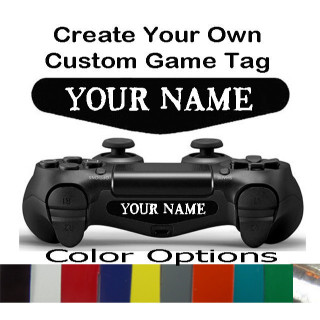 Playstation 4 PS4 Controller CUSTOM Light bar Decals Custom Text Gamer Tag Decal Sticker 2qty
