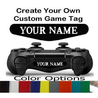 Playstation 4 Controller Ligh bar Decal Custom Text Gamer Tag Decal Sticker