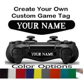 Playstation 4 Controller Custom Text Light Bar Decal Sticker