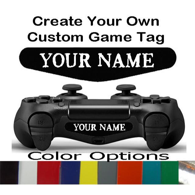Playstation 4 controller custom text light bar decal sticker playstation 4 controller custom text light bar decal sticker aloadofball Image collections