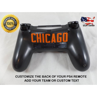 Playstation 4 PS4 Controller Personalize Custom Back of Controller Decal Sticker