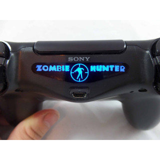 PS4 Controller Zombie Hunter Light Bar Decal Sticker