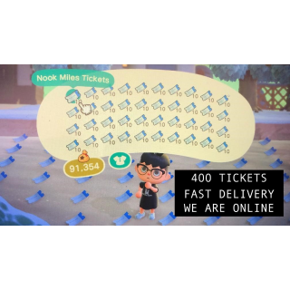 400 NOOK MILE TICKETS ANIMAL CROSSING NEW HORIZONS SAME DAY DELIVERY