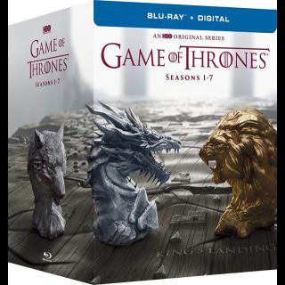 Game Of Thrones Seasons 1 - 7, (Seasons 1, 2, 3, 4, 5, 6, 7) HD iTunes www.hbodigitalhd.com