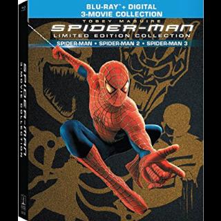 Spider-man trilogy Spider-man / Spider-Man 2 & Extended / Spider-Man 3 & Editors HD Vudu / MoviesAnywhere