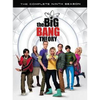 The Big Bang Theory Ninth 9th Season HD Vudu / MoviesAnywhere