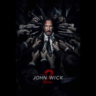John Wick: Chapter 2 HD Vudu iTunes