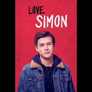 Love, Simon HD VUDU Movies Anywhere