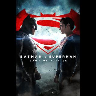 Batman v Superman: Dawn of Justice Ultimate Edition HD Vudu / MoviesAnywhere
