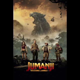 Jumanji: Welcome to the Jungle HD Vudu / MoviesAnywhere