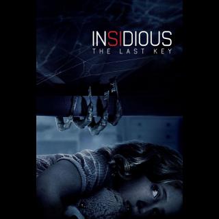 Insidious: The Last Key SD Vudu / MoviesAnywhere