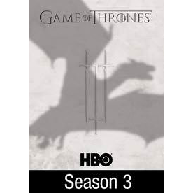 Game of Thrones The Complete Third 3rd Season HD Vudu / itunes