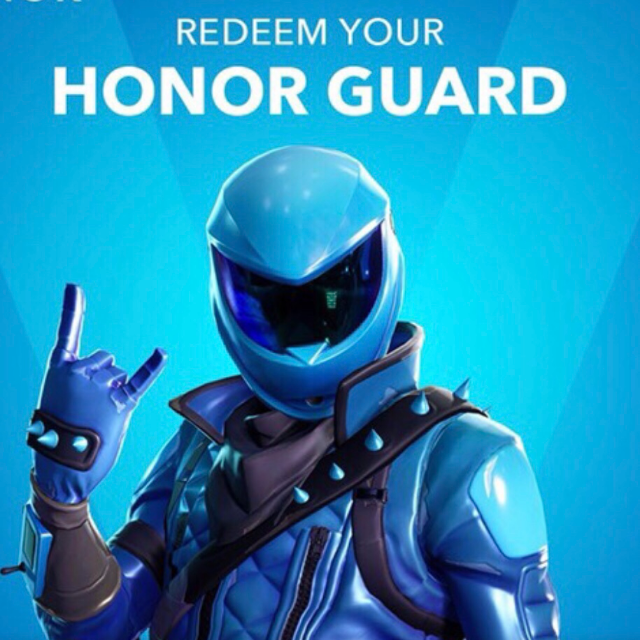 Fortnite HONOR GUARD Skin CODE - Other Gift Cards - Gameflip