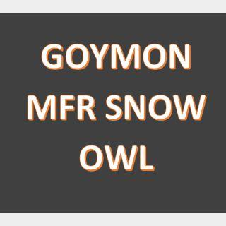 Pet   MFR SNOW OWL