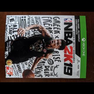 NBA 2k19 Full Game Digital Xbox One