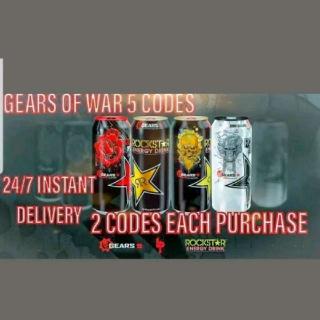 Gears Of War 5 Rockstar Codes ! 3 ROCKSTAR CODES WILL BE SENT!