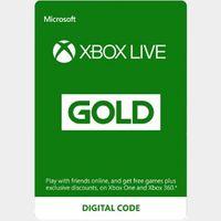 Xbox Live Gold 12 Month Membership EU-EFTA