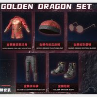 PUBG | golden dragon set